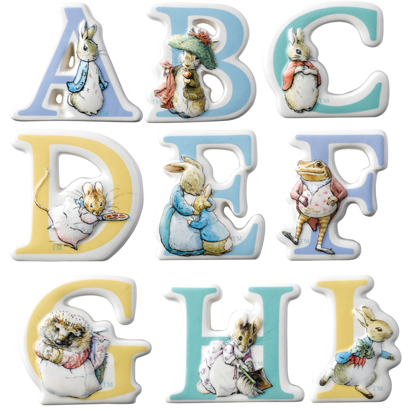 Beatrix Potter Alphabet Letters Uk