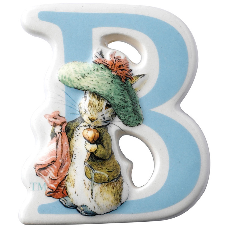 The World Of Beatrix Potter Character Ceramic Alphabet
