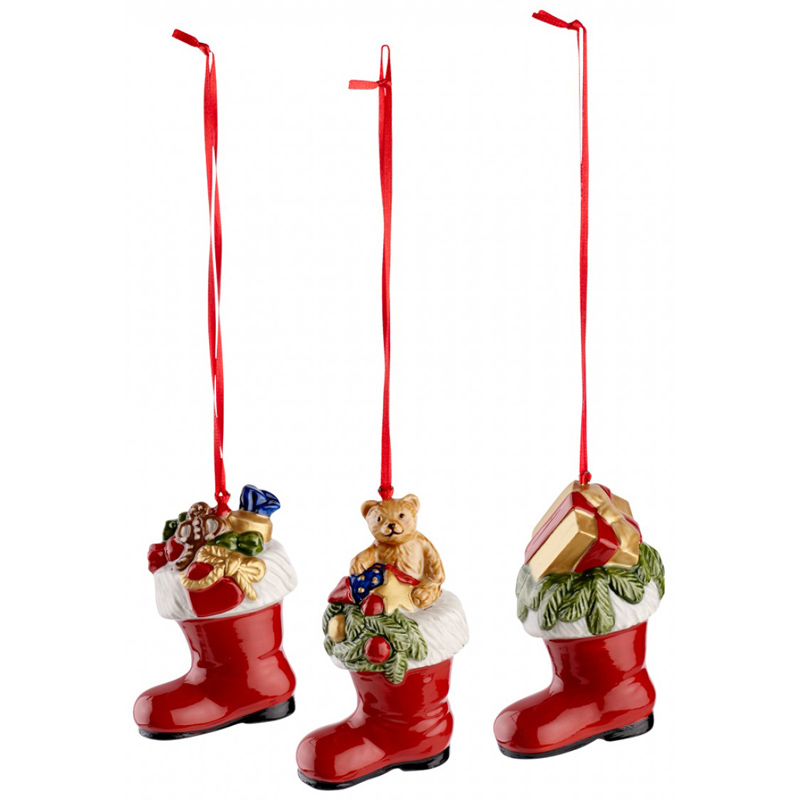 Nostalgic ornaments piece boots set from