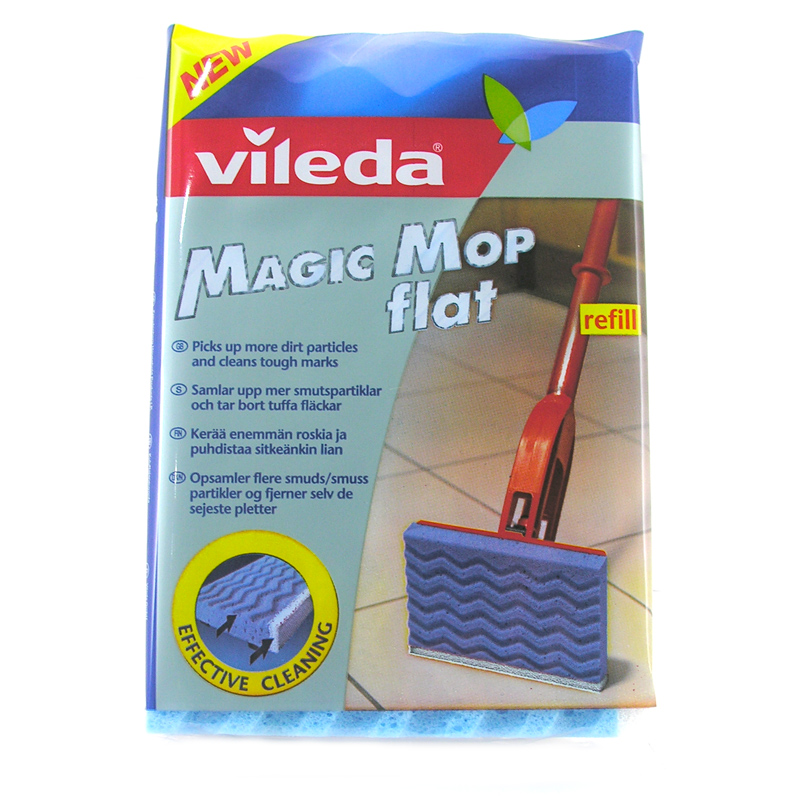 vileda magic mop flat sponge choice of complete mop or. Black Bedroom Furniture Sets. Home Design Ideas