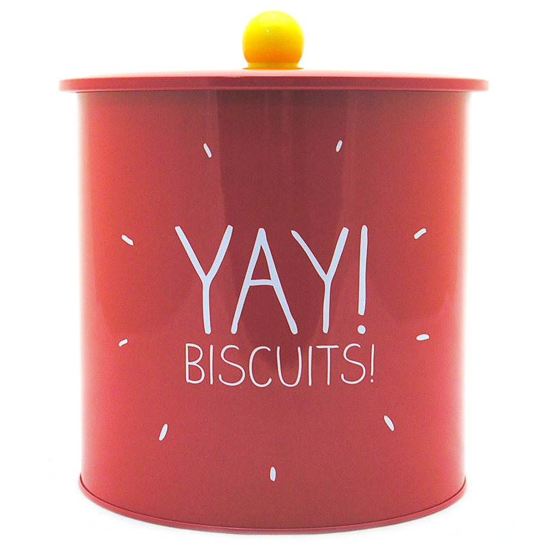 The item for sale is Happy Jackson Yay Biscuits Biscuit Barrel